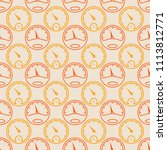 seamless pattern with... | Shutterstock .eps vector #1113812771