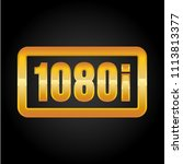 1080i fullhd resolution golden... | Shutterstock .eps vector #1113813377