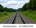 railway tracks with the traffic ... | Shutterstock . vector #1113822434