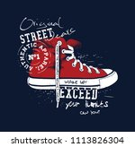 sneaker illustration for t... | Shutterstock .eps vector #1113826304