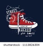 sneaker illustration for t... | Shutterstock .eps vector #1113826304