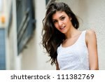 portrait of a beautiful woman... | Shutterstock . vector #111382769