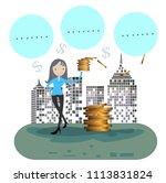 businessconcept to make money ... | Shutterstock .eps vector #1113831824