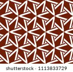seamless pattern with symmetric ... | Shutterstock .eps vector #1113833729