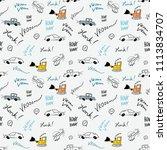 children bedsheets pattern  ... | Shutterstock .eps vector #1113834707