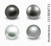 chrome  silver  platinum ball... | Shutterstock .eps vector #1113836711