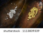 gold and silver granules in... | Shutterstock . vector #1113839339