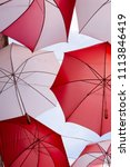 display of red and white... | Shutterstock . vector #1113846419
