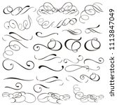 collection of vector filigree... | Shutterstock .eps vector #1113847049
