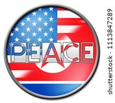 american north korea freedom... | Shutterstock . vector #1113847289