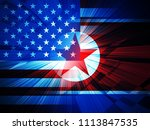 united states and north korea... | Shutterstock . vector #1113847535