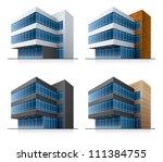 four black and white office... | Shutterstock .eps vector #111384755