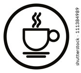 simplistic coffee cup icon ...