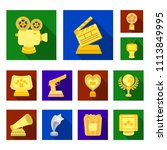film awards and prizes flat... | Shutterstock .eps vector #1113849995