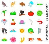 save nature icons set. cartoon... | Shutterstock . vector #1113850454