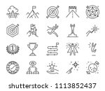 goal and achievement icon set.... | Shutterstock .eps vector #1113852437