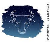 zodiac sign   taurus. vector...   Shutterstock .eps vector #1113859115