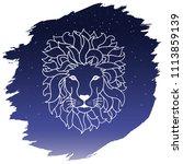 zodiac sign   leo. vector...   Shutterstock .eps vector #1113859139
