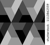 mosaic. polygons ornament.... | Shutterstock .eps vector #1113862559