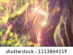 abstract polygonal space on... | Shutterstock . vector #1113864119