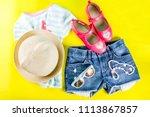 summer vacation concept  summer ... | Shutterstock . vector #1113867857