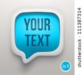 talk bubble icon   Shutterstock .eps vector #111387314