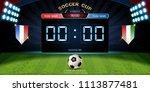 digital timing scoreboard ... | Shutterstock .eps vector #1113877481