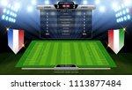 scoreboard and soccer field... | Shutterstock .eps vector #1113877484