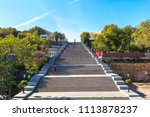 Potemkin steps in Odessa, Ukraine in a beautiful summer day