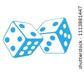 dice   two gambling cubes ... | Shutterstock .eps vector #1113881447