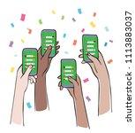 online sports betting  ... | Shutterstock .eps vector #1113883037