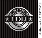 lol  silver badge or emblem | Shutterstock .eps vector #1113890651