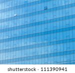 blue sky reflected in the glass ... | Shutterstock . vector #111390941