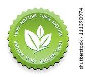 100 percent nature green sign...   Shutterstock . vector #111390974