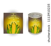 vector illustration of tin can... | Shutterstock .eps vector #1113910235