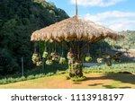 garden designs with hanging... | Shutterstock . vector #1113918197
