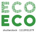 eco text collage icon of one... | Shutterstock .eps vector #1113931379