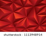 abstract red triangle polygon... | Shutterstock .eps vector #1113948914