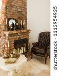 beautiful antique  fireplace... | Shutterstock . vector #1113954935
