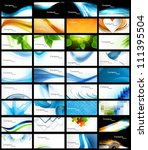 abstract various 36 business... | Shutterstock .eps vector #111395504
