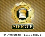 gold shiny emblem with... | Shutterstock .eps vector #1113955871