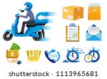 motorcycle express speed... | Shutterstock .eps vector #1113965681