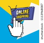 online shopping with mouse... | Shutterstock .eps vector #1113968087