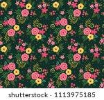 simple cute pattern in small... | Shutterstock .eps vector #1113975185