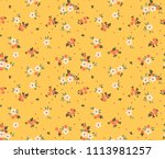 Stock vector cute floral pattern in the small flower ditsy print motifs scattered random seamless vector 1113981257