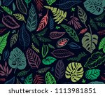 seamless background with... | Shutterstock .eps vector #1113981851