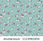 simple cute pattern in small... | Shutterstock .eps vector #1113981854