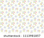 floral pattern. pretty flowers... | Shutterstock .eps vector #1113981857