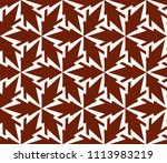 seamless pattern with symmetric ... | Shutterstock .eps vector #1113983219