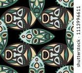 seamless pattern. indian... | Shutterstock .eps vector #1113996611